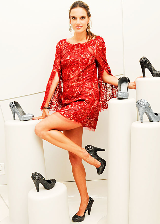 Alessandra Ambrosio Loves Her Melissa Shoes Collection