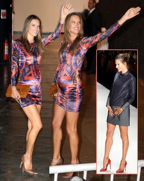 Alessandra Ambrosio pregnant on the catwalk