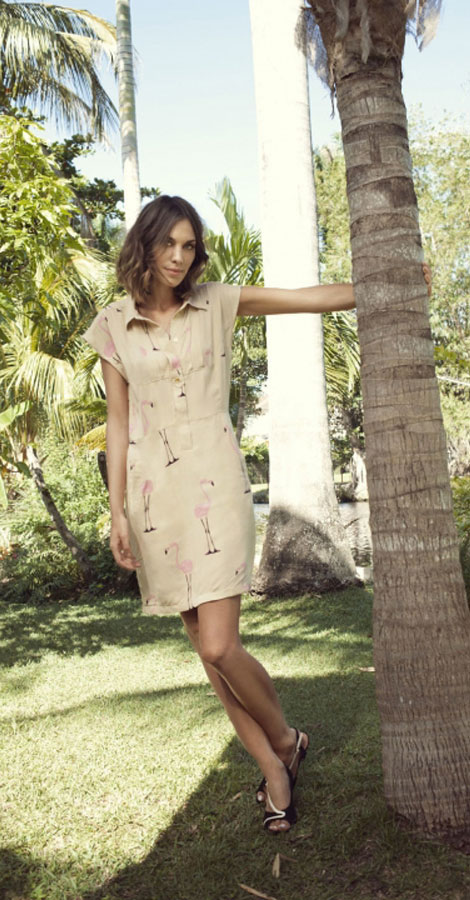 Alexa Chung dress Vero Moda summer 2012 campaign