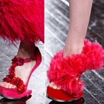 Alexander McQueen Fall 2012 shoes pink
