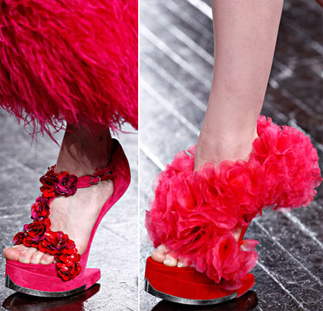Alexander McQueen Fall 2012 shoes pink - StyleFrizz | Photo ...