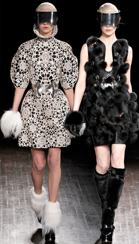 Alexander McQueen flowery fall 2012 collection
