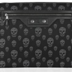 Alexander McQueen skull black laptop case