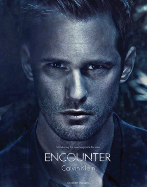 Alexander Skarsgard Calvin Klein Encounter perfume ad campaign
