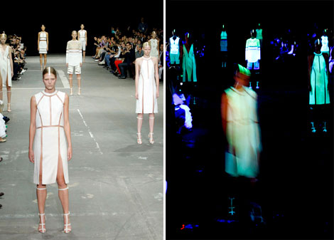 Black & White Glow In The Dark Alexander Wang Spring Summer 2013