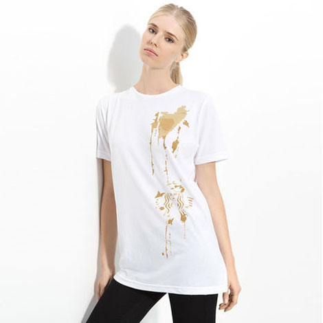 Alexander Wang Starbucks coffee stained T Shirt