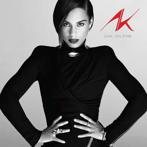 Alicia Keys' Girl On Fire Album Cover Is Bold And Sleek