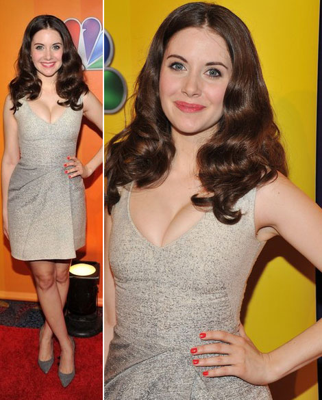 Alison Brie cleavage disaster