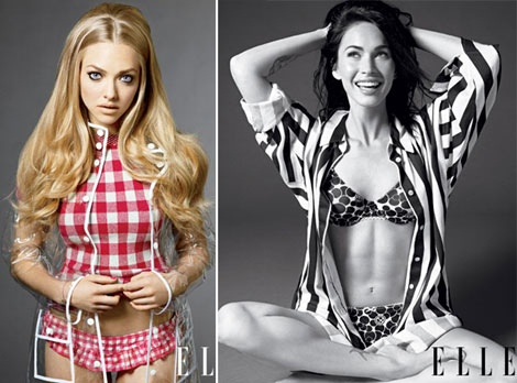 Amanda Seyfried Megan Fox Elle October 2010