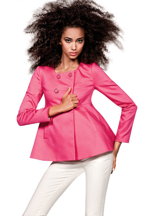 Anais Mali natural hair in H and M campaign