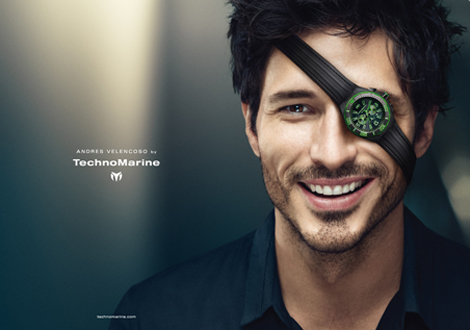 Andres  Velencoso Technomarine ad campaign