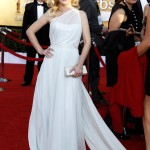 Angela Kinsey white dress 2012 SAG Awards