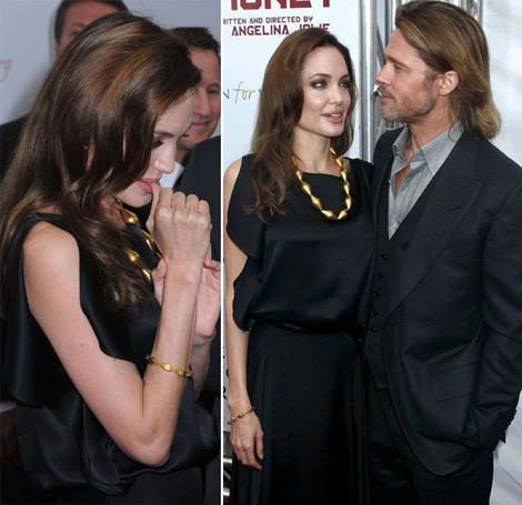 Angelina Jolie Brad Pitt movie premiere Land of Blood and Honey