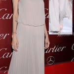 Angelina Jolie gray pleated Elie Saab dress Palm Springs Festival