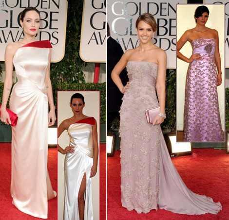 Angelina Jolie's Versace Golden Globes Dress For Less