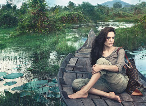 Angelina Jolie's Louis Vuitton Core Values Ad Campaign By Annie Leibovitz