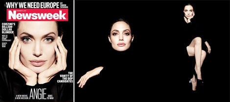 Angelina Jolie Newsweek cover inside pictures