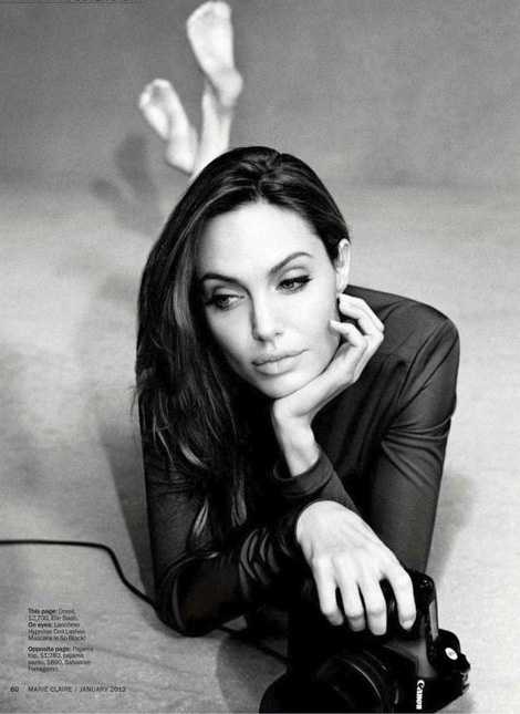 Angelina Jolie beautiful picture Marie Claire January 2012