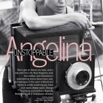 Angelina Jolie black and white Marie Claire January 2012