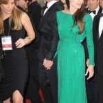 Angelina Jolie green Versace dress Golden Globes 2011 3