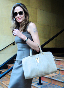 Angelina Jolie s bag and engagement ring