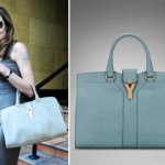 Angelina Jolie s blue bag YSL Chyc Cabas