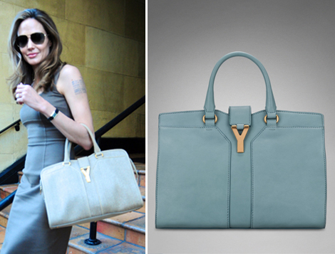 yves saint laurent cabas chyc tote blue