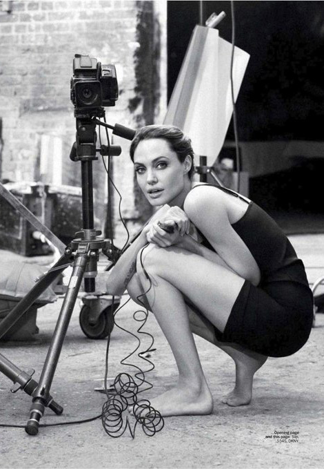 Angelina Jolie self portrait Marie Claire January 2012