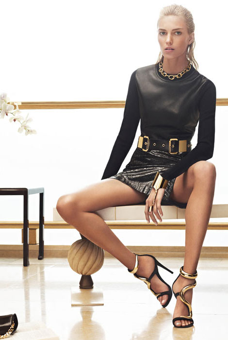 Anja Rubik's Leather Gorgeous Giuseppe Zanotti Fall 2012 Campaign