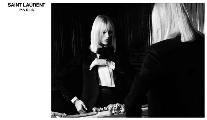 Anja Rubik Hedi Slimane Saint Laurent Paris