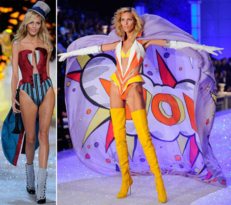 Anja Rubik Victoria s Secret 2011 Fashion Show outfits