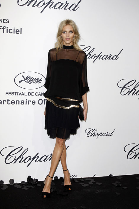 Anja Rubik at Cannes party Chopard