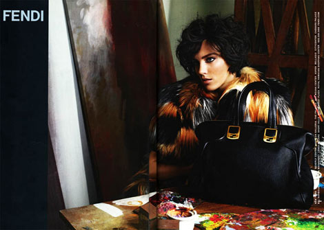 Anja Rubik's Fendi Fall Winter 2011 2012 Ad Campaign