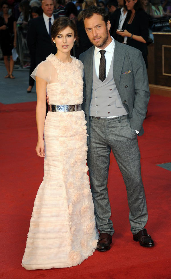 Anna Karenina premiere Keira Knightley and Jude Law