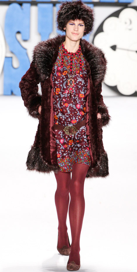 Anna Sui Fall Winter 2012 2013 Saskia de Brauw
