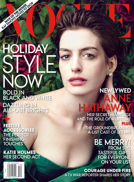 Anne Hathaway Vogue December 2012 cover