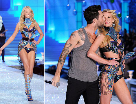 Adam & Anne's Heidi & Seal Moment For Victoria's Secret ...