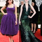Ariel Winter purple Dolce Evan Rachel Wood green Gucci 2012 Golden Globes dresses