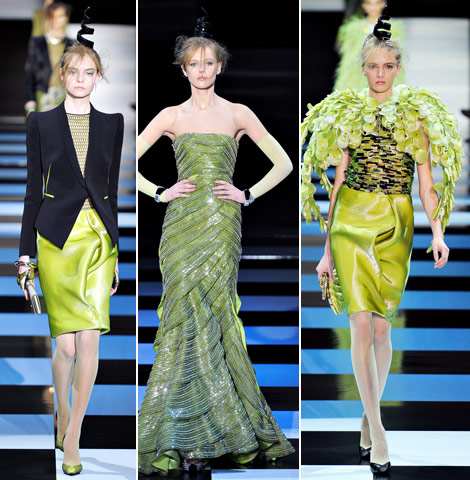 Armani Prive Spring 2012 Snake Inspired Couture Collection
