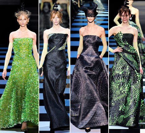 Armani Prive Spring 2012 Couture snake inspiration collection