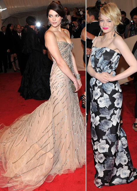 Ashley Green Emma Stone dresses Met Gala 2011