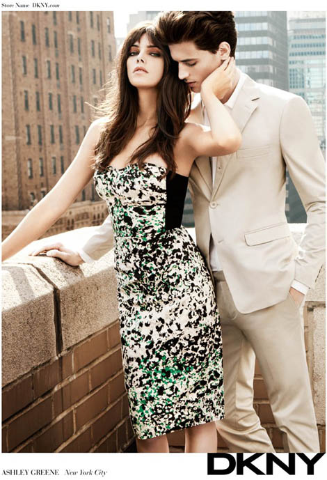 Ashley Greene DKNY 2012 ad campaign