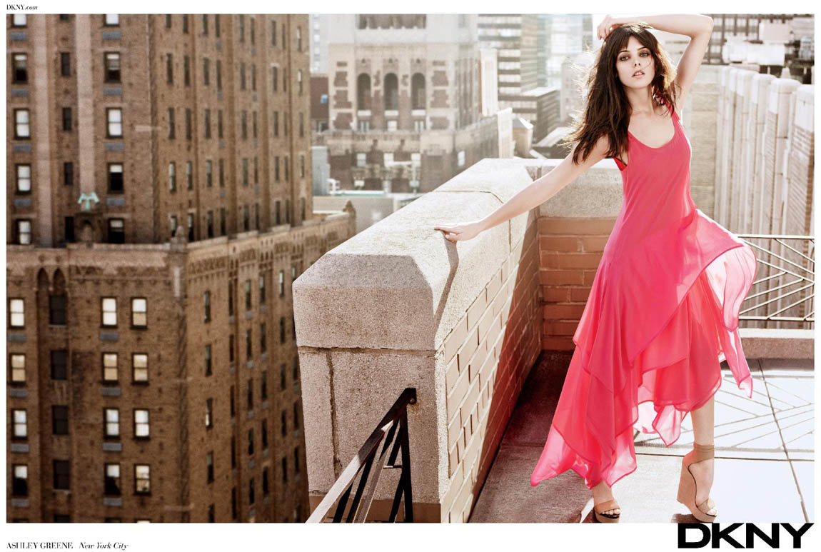 Ashley Greene DKNY New York rooftop ad campaign
