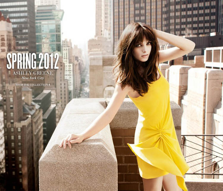 Ashley Greene DKNY spring 2012 ad campaign