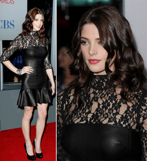 Ashley Greene custom black DKNY dress 2012 People s Choice Awards