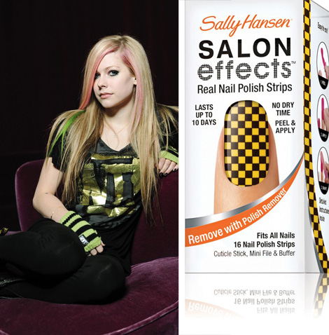 Nail Polish Stripes From Avril Lavigne And Sally Hansen Stylefrizz