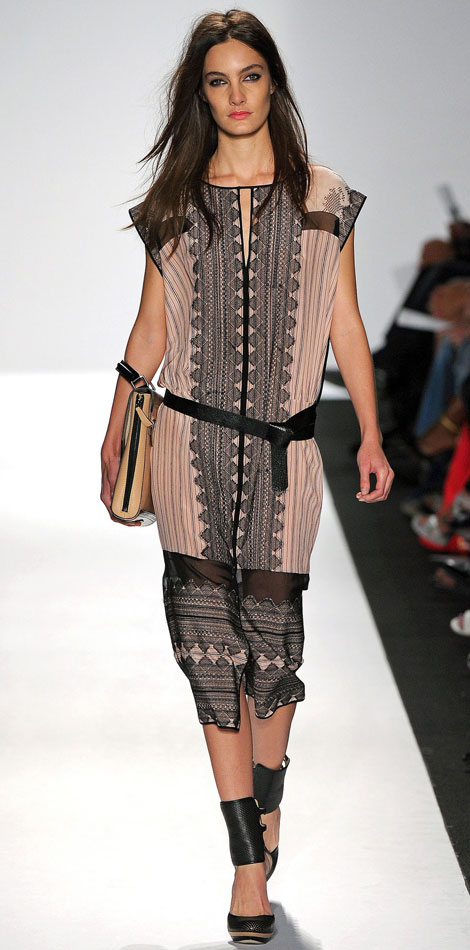 BCBG Max Azria Spring Summer 2013 Collection: Straps Geometry