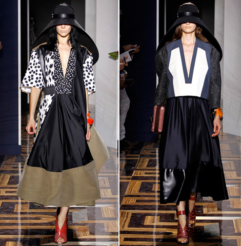 Balenciaga Summer 2012 dresses hats