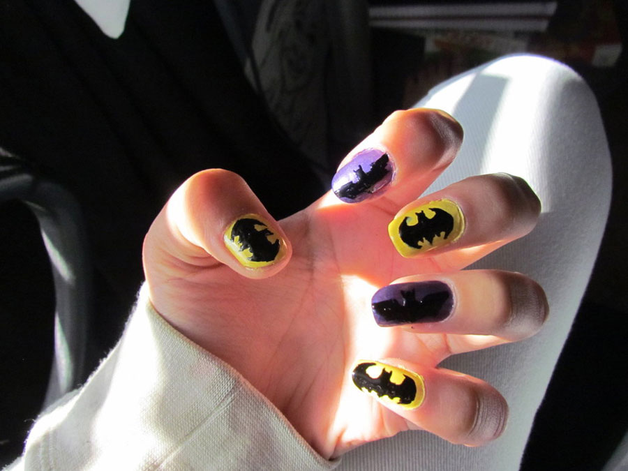 Batman nails for Halloween