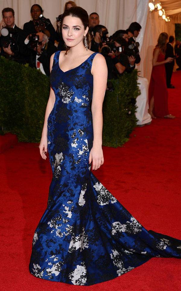 Bee Shaffer Erdem blue dress Met Gala 2012
